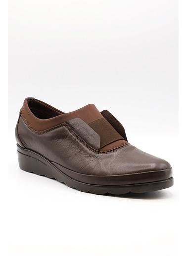 La scada K146 Kahverengı Dolgu Taban Kadın Ayakkabı Kahve